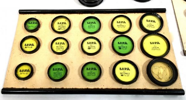 Antique Advertising - Rare Lifa Camera Filters Salesman Box / Demonstration Kit